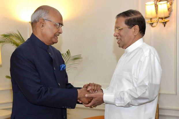 President Ram Nath Kovind said Sri Lankan President Maithripala Sirisena had played a stellar role in Sri Lanka's active re-engagement with the world