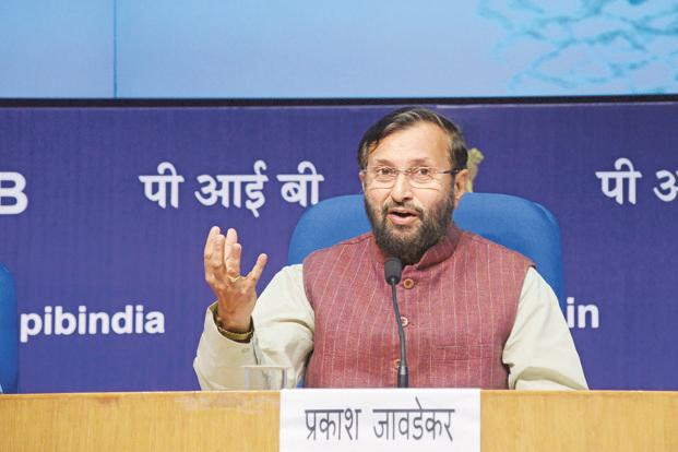 "File photo. Underlining the long-standing relationship between France and India, HRD minister Prakash Javadekar termed the ""mutual recognition of educational qualifications"" between France and India as historic. Photo: Ramesh Pathania/Mint"