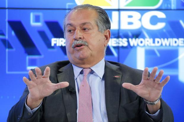 Andrew Liveris, 63, will relinquish the chairman's title on 1 April and leave the board as previously planned on 1 July. Photo: AP