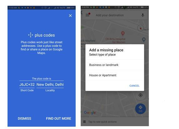 to improve search for places which do not have a corresponding address on maps google