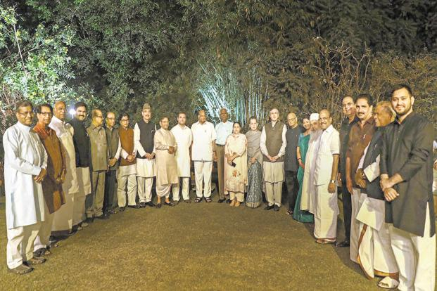 Sonia Gandhi hosted the opposition dinner at 10 Janpath. Photo: PTI