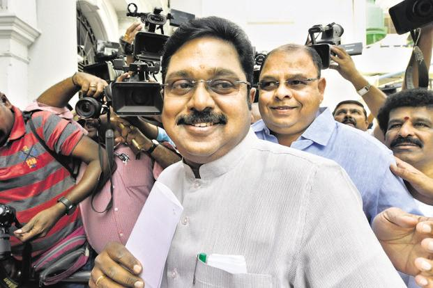 The Delhi high court had earlier ordered the Election Commission to Pallot the 'pressure cooker' symbol that was used by T.T.V Dhinakaran during the R.K. Nagar byelection in December and allow the use of a preferred party name. Photo: PTI