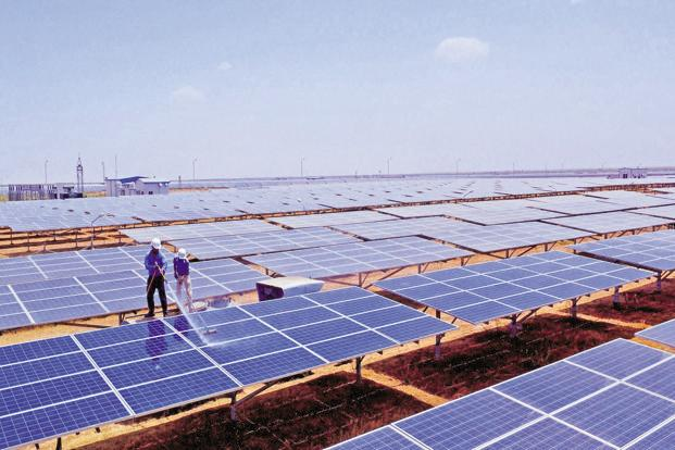 With India's wind and solar tariffs at a record low, it is the lower cost of foreign capital and the size of the Indian renewable energy market that has helped India's emerging green economy. Photo: PTI