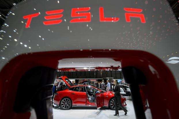 Tesla is expected to report production and deliveries results early next month. Photo: AFP