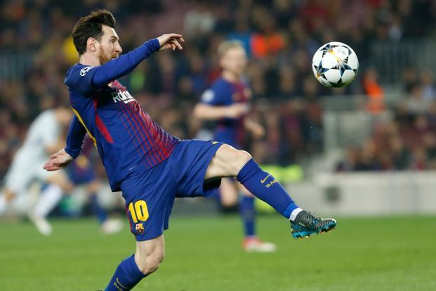 Lionel Messi Nets in his 100th Champions League goal