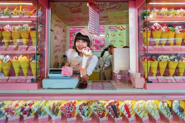 An ice-cream store in the hip Harajuku district. Photo: iStockphoto