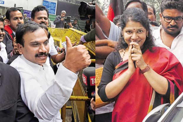 The CBI action comes a day after the ED moved the Delhi HC against the acquittal of A. Raja and DMK MP Kanimozhi and others in a money-laundering case arising out of the 2G scam. Photo: AFP
