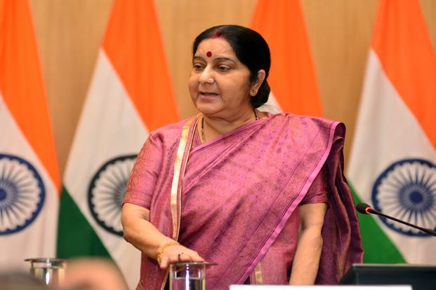 Harjeet Masih had changed name, taken Bangladeshi visa: Sushma