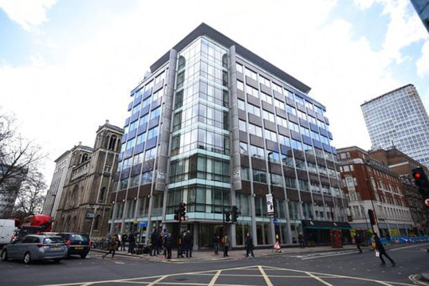 Cambridge Analytica office in London. Photo: AP