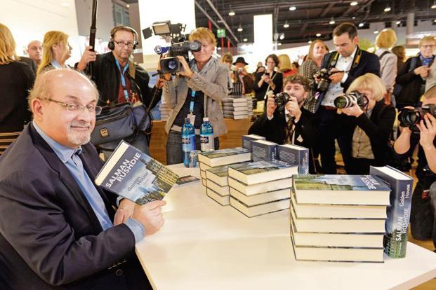 Salman Rushdie at the Frankfurt Book Fair, 2017.