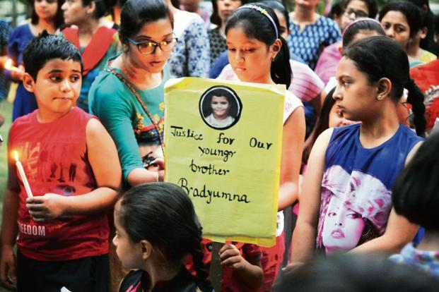 Residents of Gurugram at a candlelight march last year to demand justice for the murder of a Ryan International School student. Photo: Hindustan Times