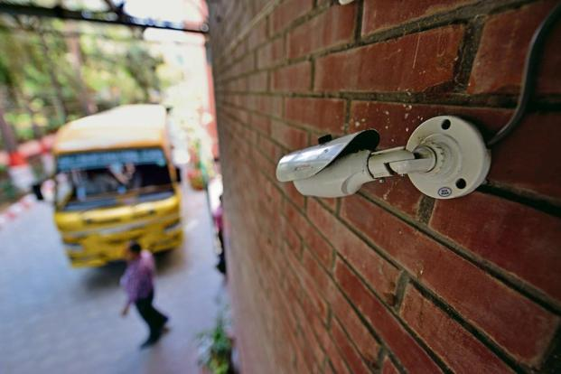 Most private schools have installed CCTVs to monitor important areas. Photo: Pradeep Gaur/Mint