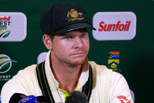 Australia's Steve Smith at a press conference in Cape Town on Saturday as he admitted to ball-tampering during the third Test against South Africa. Photo: AFP