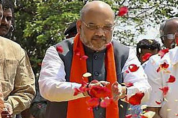 Davanagere: Amit Shah accuses Siddaramaiah govt of 'dividing' Hindus