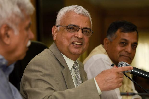 Chief election commissioner O.P. Rawat with election commissioners Ashok Lavasa and Sunil Arora announces the schedule for Karnataka elections at a press conference in New Delhi on Tuesday. Photo: PTI