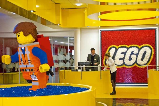 The headquarters of Lego A/S in Billund, Denmark. Sales at the world's three biggest toymakers—Lego A/S, Hasbro Inc. and Mattel Inc.—slumped during the crucial 2017 holiday season, and the outlook for 2018 isn't much better. Photo: Bloomberg