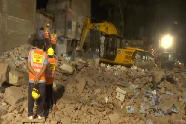 Seven killed as building collapses in Indore