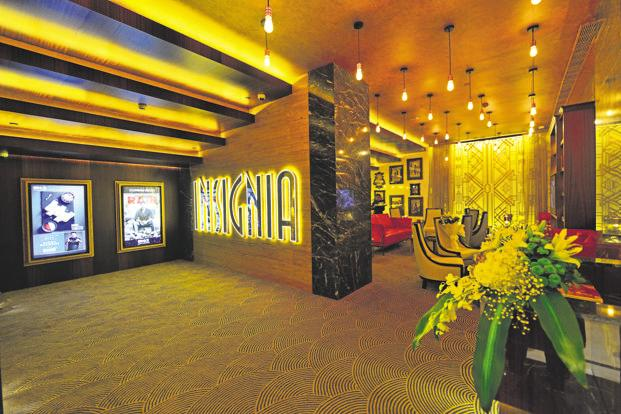 INSIGNIA, which was bought by INOX leisure in March. Investment in luxury cinemas can be nearly 60-75% more than that in a regular theatre, warranting almost three times higher ticket prices. Photo: Priyanka Parashar/Mint