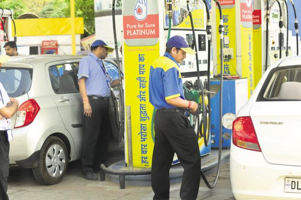 A sharp spike in the crude oil prices will also reverse the declining trend on inflation and put pressure on central and state governments to cut taxes on petrol and diesel. Photo: Ramesh Pathania/Mint