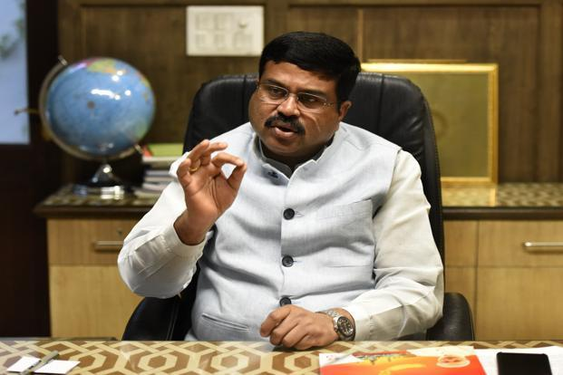 Oil minister Dharmendra Pradhan said  there won't be any 'knee-jerk reaction' to the price rise in diesel and petrol with the government balancing the twin goals of development and consumer's interest. Photo: HT
