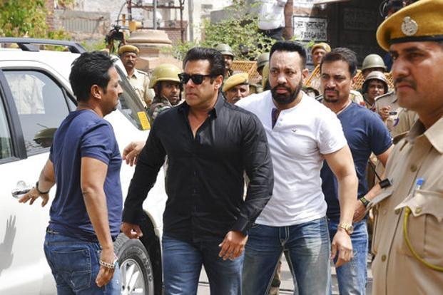 There is about Rs400 crore riding on Salman Khan, including R150 crore on 'Race 3' and signing amounts and rights of films such as 'Bharat', 'Dabangg 3' etc and the TV show 'Dus Ka Dum' and TV commercials. Photo: AP