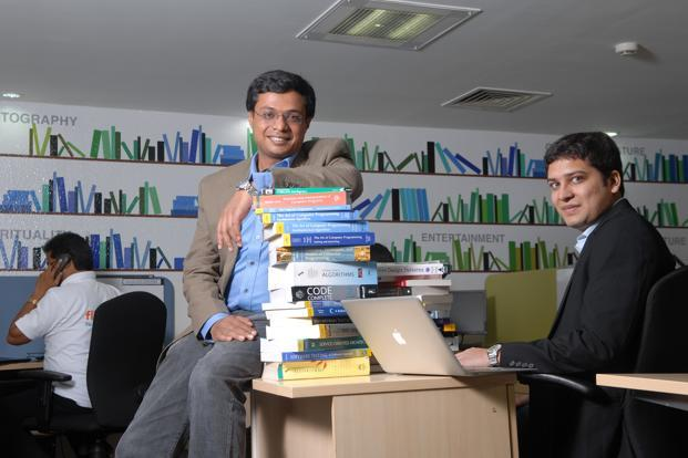 Sachin (left) and Binny Bansal in 2010 when Flipkart was only an online bookstore. Photo: