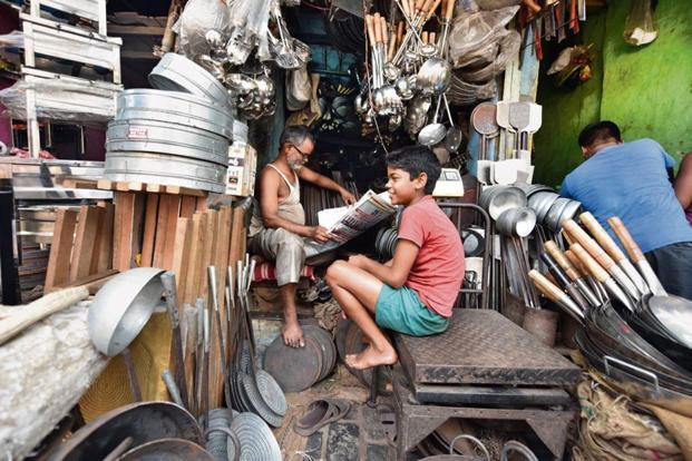 A store that stocks metal utensils in Jatra Para. Photo: Indranil Bhoumik/Mint