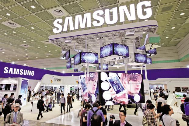 The shares of Samsung fell 1.6% in early trading in Seoul, as the KOSPI index decline on concern over US tariffs. Photo: Bloomberg