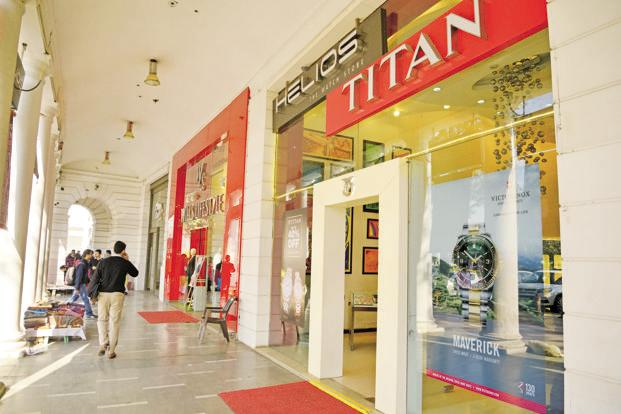 Titan's jewellery division sells its products mainly through its Tanishq brand of retail outlets. Photo: Mint