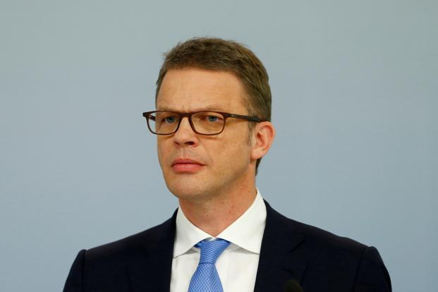 A file photo of the newly appointed Deutsche Bank CEO, Christian Sewing. Photo: Reuters