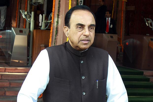 "BJP's Subramanian Swamy said going into the 2019 national elections mode, the BJP will campaign on the promise to ""eliminate whatever corruption we could not (eliminate) in the last five years"". Photo: Hindustan Times"