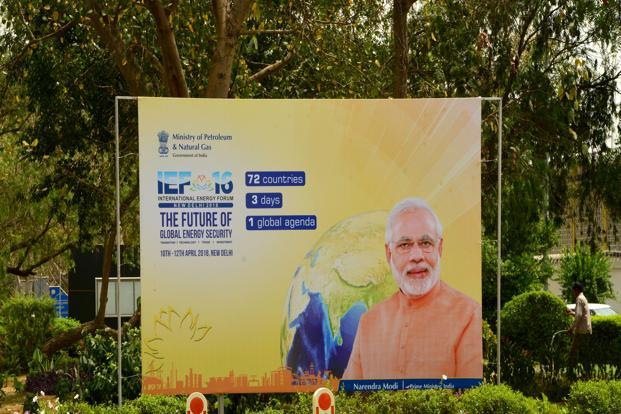 Prime Minister Narendra Modi will inaugurate 16th International Energy Forum on Wednesday. Photo: Ramesh Pathania/Mint