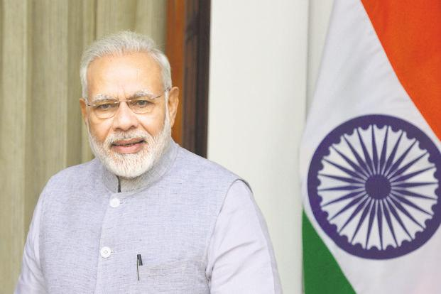 Prime Minister Narendra Modi has alleged that opposition parties were creating hurdles for the NDA while it was working for the upliftment of financially weaker sections. Photo: Ramesh Pathania/Mint