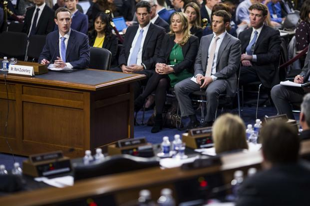 Facebook CEO Mark Zuckerberg testifies before a combined Senate Judiciary and Commerce committee hearing in the Hart Senate Office Building on Capitol Hill in Washington DC. Photo: Getty Images