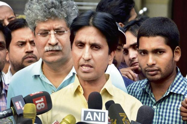 Aam Aadmi Party founding member Kumar Vishwas. AAP is looking to contest Rajasthan elections due later this year. Photo: PTI