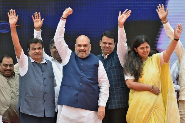 Maharashtra CM Devendra Fadnavis's speech at the BJP's 38th foundation day eclipsed that of Amit Shah, struck a chord with party workers and made  a lot of political sense. Photo: PTI