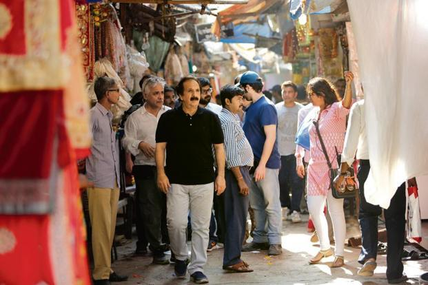 Award-winning Iranian film-maker Majid Majidi shooting 'Beyond The Clouds' in Mumbai. Photo: Namah Pictures/Zee Studios