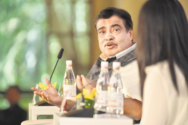 Transport minister Nitin Gadkari at the HT-MintAsia Leadership Summit in Singapore on Friday. Photo: MintAsia