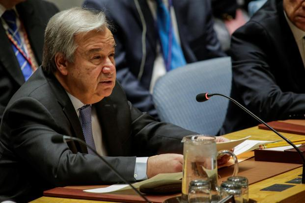 A file photo of United Nations chief Antonio Guterres. Photo: Reuters