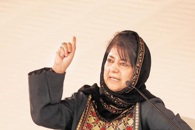 J&K CM Mehbooba Mufti expressed satisfaction over the Supreme Court taking cognisance of an alleged attempt by lawyers in Kathua to obstruct the crime branch in filing charge-sheet in the rape and murder case. Photo: Hindustan Times