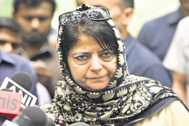Jammu and Kashmir chief minister Mehbooba Mufti accepted the resignations of two BJP ministers who supported the people arrested in connection with the Kathua rape case. Photo: HT