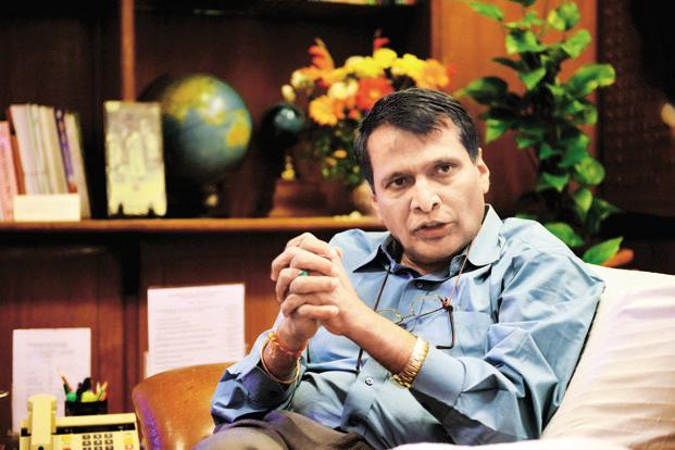 Suresh Prabhu said that logistics cost, speed of movement of cargo and the cost of moving them was critical for the country to succeed in the global market as well as for domestic competitiveness. Photo: Pradeep Gaur/Mint