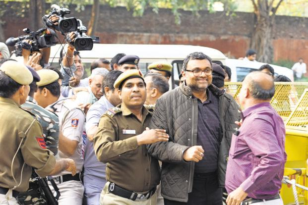 Karti Chidambaram had filed a plea seeking protection from arrest in the Aircel-Maxis matter, in which the CBI and the ED lodged cases in 2011 and 2012, respectively. Photo: Hindustan Times