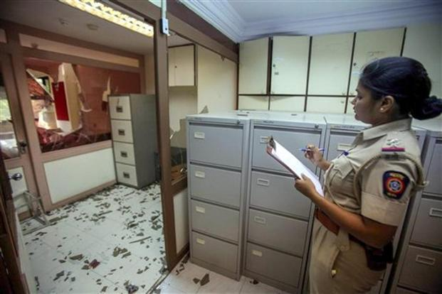 The offices of  Ratnagiri refinery vandalised by MNS. The Ratnagiri oil refinery is being built over 15,000 acres and involves an investment of Rs3 trillion by Saudi Aramco and state-run oil companies led by Indian Oil. Photo: PTI