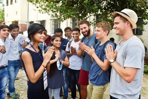 Currently, India has some 47,000 foreign students—a tiny number compared to countries with traditionally strong higher education sectors. Photo: HT