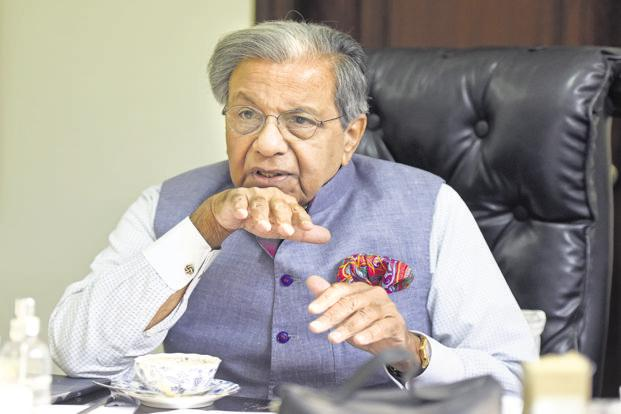 Nand Kishore Singh, chairman of the 15th Finance Commission. States in South India have claimed that the state revenue sharing formula in 15th Finance Commission's terms of reference favours their North Indian counterparts. Photo: HT