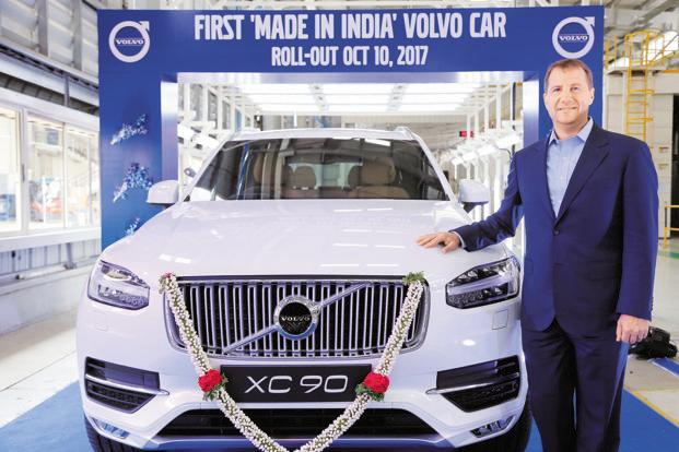Volvo currently assembles XC 90 and S 90 models at the Bangalore-based manufacturing plant.