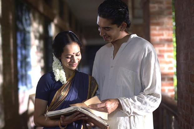 Devika Bhise as Janaki and Dev Patel as Ramanujan in a still from 'The Man Who Knew Infinity', a biopic on the mathematician.
