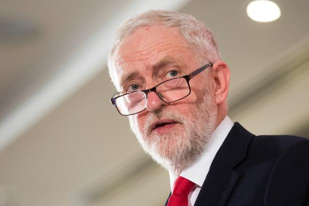 Jeremy Corbyn, leader of the UK opposition Labour party. Photo: Bloomberg