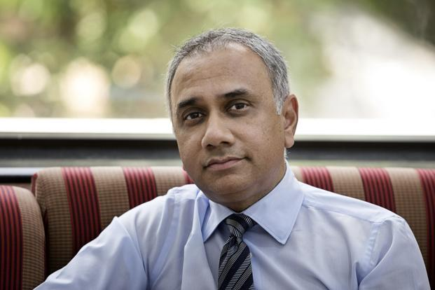 Infosys CEO Salil S. Parekh and his senior management declined to clarify whether the three-year journey implied that Infosys will only start posting industry-matching growth from the third year. Photo: Bloomberg